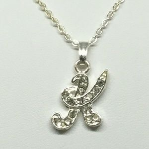 Jewelry - Genuine Crystal Initial K Pendant Necklace